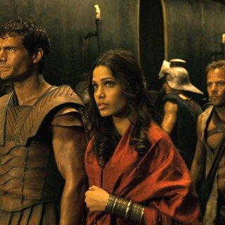 Immortals - Henry Cavill stars as Theseus and Freida Pinto stars as Phaedra in Relativity Media's Immortals (2011)