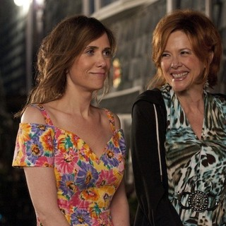 Kristen Wiig stars as Imogene and June Diane Raphael stars as Dara in Lionsgate Films' Girl Most Likely (2013)