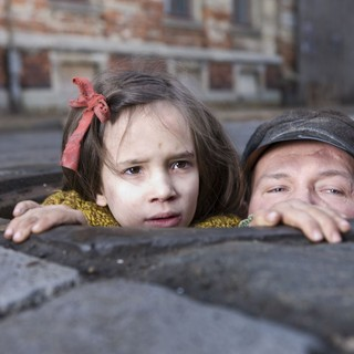 Milla Bankowicz stars as Krystyna Chiger and Robert Wieckiewicz stars as Leopold Soha in Sony Pictures Classics' In Darkness (2012)