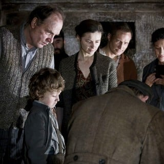 Herbert Knaup, Jerzy Walczak, Agnieszka Grochowska, Benno Furmann, Maria Schrader and Oliwer Stanczak in Sony Pictures Classics' In Darkness (2012). Photo credit by Jasmin Marla Dichant.