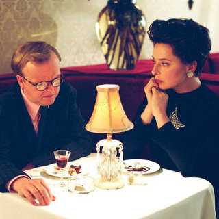 Infamous - Toby Jones as Truman Capote and Isabella Rossellini as Gloria Guinness in Warner Independent Pictures' Infamous (2006)