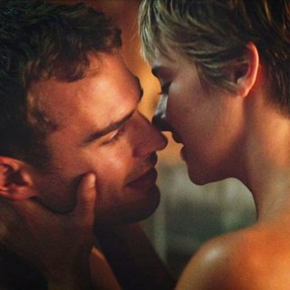 Theo James stars as Four and Shailene Woodley stars as Beatrice 'Tris' Prior in Summit Entertainment's The Divergent Series: Insurgent (2015)