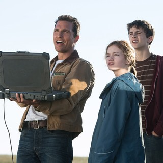 Matthew McConaughey, Mackenzie Foy and Timothee Chalamet in Paramount Pictures' Interstellar (2014)