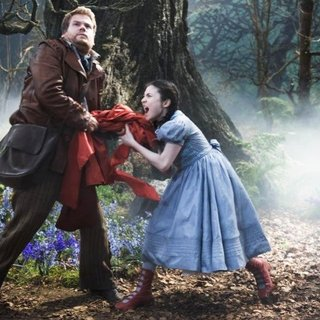 Into the Woods - James Corden stars as The Baker and Lilla Crawford stars as Red Riding Hood in Walt Disney Pictures' Into the Woods (2014)