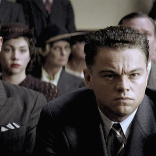 Armie Hammer stars as Clyde Tolson and Leonardo DiCaprio stars as J. Edgar Hoover in Warner Bros. Pictures' J. Edgar (2011)