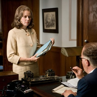 Naomi Watts stars as Helen Gandy and Leonardo DiCaprio stars as J. Edgar Hoover in Warner Bros. Pictures' J. Edgar (2011)