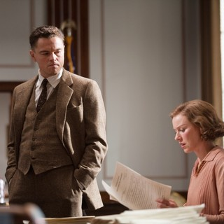 Leonardo DiCaprio stars as J. Edgar Hoover and Naomi Watts stars as Helen Gandy in Warner Bros. Pictures' J. Edgar (2011)