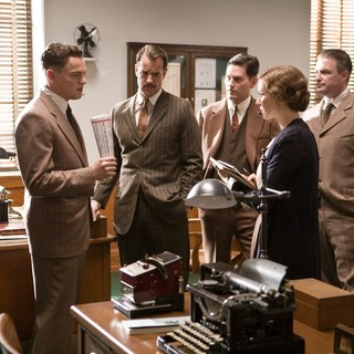 Leonardo DiCaprio, Naomi Watts, Christopher Shyer, Jeffrey Donovan and Armie Hammer in Warner Bros. Pictures' J. Edgar (2011). Photo credit by Keith Bernstein.