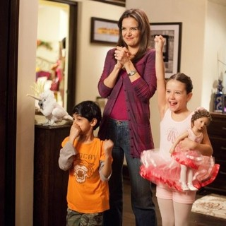 Rohan Chand, Katie Holmes and Elodie Tougne in Columbia Pictures' Jack and Jill (2011)