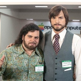 jOBS - Josh Gad stars as Steve Wozniak and Ashton Kutcher stars as Steve Jobs in Open Road Films' jOBS (2013)