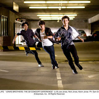 Jonas Brothers: The 3D Concert Experience - Joe Jonas, Nick Jonas and Kevin Jonas in Walt Disney Pictures' Jonas Brothers: The 3D Concert Experience (2009)