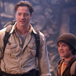 "Brendan Fraser stars as ""Trevor"" and Josh Hutcherson stars as ""Sean"" in JOURNEY TO THE CENTER OF THE EARTH 3D. Photo Credit: Sebastian Raymond"