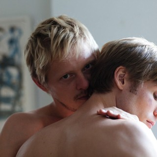 Thure Lindhardt stars as Erik Rothman and Zachary Booth stars as Paul Lucy in Music Box Films' Keep the Lights On (2012)