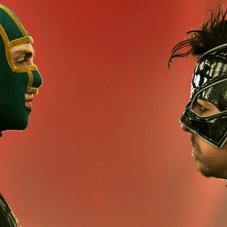 Aaron Johnson stars as 	Dave Lizewski / Kick-Ass and Christopher Mintz-Plasse stars as Chris D'Amico / The Mother Fucker in Universal Pictures' Kick-Ass 2 (2013)