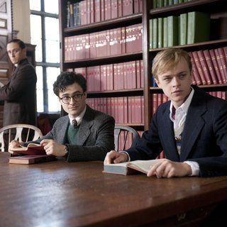 Daniel Radcliffe stars as Allen Ginsberg and Dane DeHaan stars as Lucien Carr in Sony Pictures Classics' Kill Your Darlings (2013)