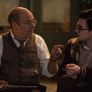 Kill Your Darlings - David Cross stars as Louis Ginsberg and Daniel Radcliffe stars as Allen Ginsberg in Sony Pictures Classics' Kill Your Darlings (2013)