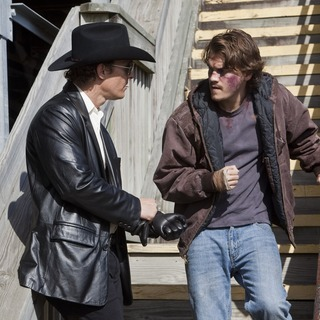 Matthew McConaughey stars as Killer Joe Cooper and Emile Hirsch stars as Chris Smith in LD Entertainment's Killer Joe (2012)