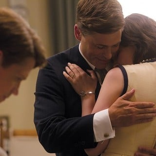Rob Lowe stars as John F. Kennedy and Ginnifer Goodwin stars as Jacqueline Kennedy in National Geographic's Killing Kennedy (2013). Photo credit by Kent Eanes. - killing-kennedy08