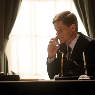 Rob Lowe stars as John F. Kennedy in National Geographic's Killing Kennedy (2013). Photo credit by Kent Eanes. - killing-kennedy09