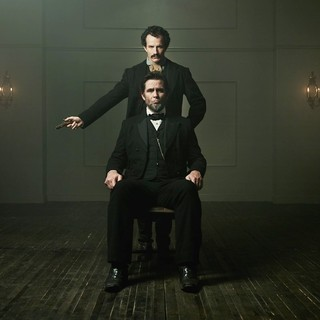 Jesse Johnson stars as John Wilkes Booth and Billy Campbell stars as Abraham Lincoln in National Geographic's Killing Lincoln (2013)