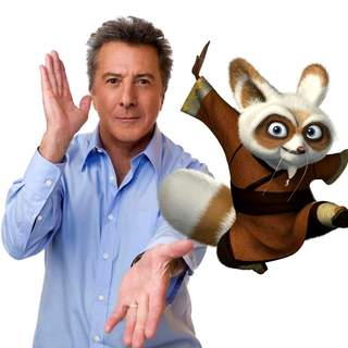 Kung Fu Panda - DUSTIN HOFFMAN voices Shifu, the renowned trainer of the legendary Furious Five in DreamWorks' Kung Fu Panda (2008). Photo by Patrick Ecclesine.