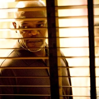 Samuel L. Jackson stars as Abel Turner in Screen Gems' Lakeview Terrace (2008). Photo credit by Chuck Zlotnick.