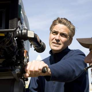 Leatherheads - Director GEORGE CLOONEY on the set of Universal Pictures' Leatherheads (2008).