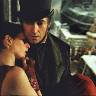 Anne Hathaway stars as Fantine and Hugh Jackman stars as Jean Valjean in Universal Pictures' Les Miserables (2012)