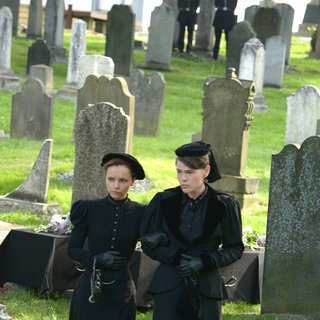 Christina Ricci stars as Lizzie Borden and  	Clea DuVall stars as Emma in Lifetime's Lizzie Borden Took an Ax (2014)