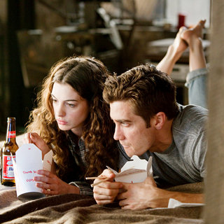 Anne Hathaway stars as Maggie Murdock and Jake Gyllenhaal stars as Jamie Randall in 20th Century Fox's Love and Other Drugs (2010)