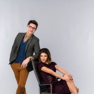 Ben Hollingsworth stars as Jonah and Jessica Szohr stars as Mira Simon in Hallmark Channel's Lucky in Love (2014). Photo credit by Bettina Strauss. - lucky-in-love-image03