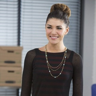 Jessica Szohr stars as Mira Simon in Hallmark Channel's Lucky in Love (2014). Photo credit by Bettina Strauss.