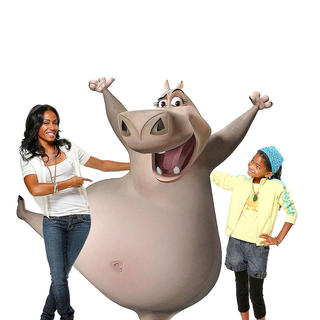 Madagascar: Escape 2 Africa - Jada Pinkett Smith voices Gloria the hippo and Willow Smith voices the young Gloria in DreamWorks Pictures' Madagascar: Escape 2 Africa (2008)