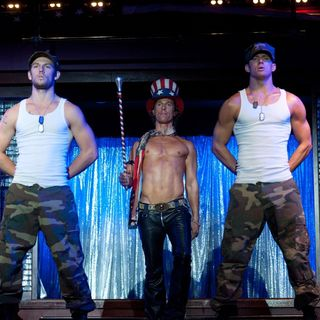 Magic Mike - Joe Manganiello, Alex Pettyfer, Matthew McConaughey and Channing Tatum in Warner Bros. Pictures' Magic Mike (2012)