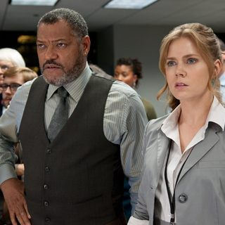 Laurence Fishburne stars as Perry White and Amy Adams stars as Lois Lane in Warner Bros. Pictures' Man of Steel (2013) - man-of-steel-picture08