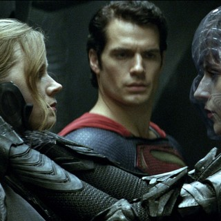 Amy Adams, Henry Cavill and Antje Traue in Warner Bros. Pictures' Man of Steel (2013)