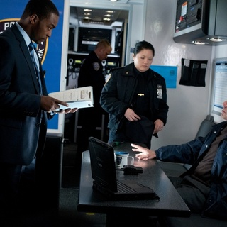 Anthony Mackie stars as Mike Ackerman and Titus Welliver stars as Dante Marcus in Summit Entertainment's Man on a Ledge (2012) - man-on-a-ledge-still03