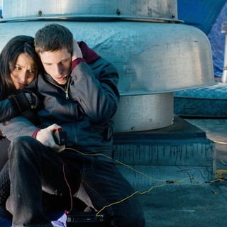 Man on a Ledge - Genesis Rodriguez stars as Angie and Jamie Bell stars as Joey Cassidy in Summit Entertainment's Man on a Ledge (2012)