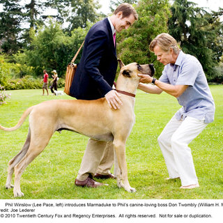 Lee Pace stars as Phil Winslow and William H. Macy stars as Don Twombly in 20th Century Fox's Marmaduke (2010)