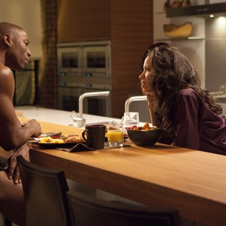 Robbie Jones stars as Harley and Jurnee Smollett stars as Judith in Lionsgate Films' Tyler Perry's Temptation (2013)