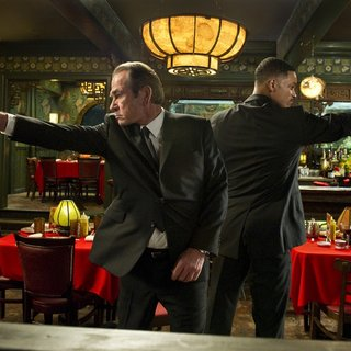 Tommy Lee Jones stars as Agent K and Will Smith stars as Agent J in Columbia Pictures' Men in Black 3 (2012)