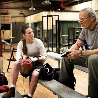 Clint Eastwood and Hilary Swank in Warner Bros.' Million Dollar Baby (2004)
