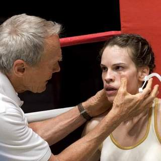 Clint Eastwood and Hilary Swank in Warner Bros.' Million Dollar Baby (2004) - million_dollar_baby30