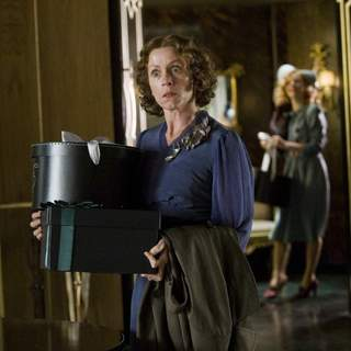 Frances McDormand as Miss Pettigrew in Focus Features' MISS PETTIGREW LIVES FOR A DAY (2008)