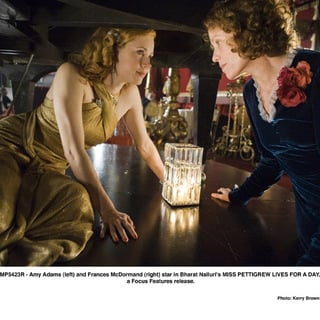Amy Adams (left) and Frances McDormand (right) star in Bharat Nalluri's MISS PETTIGREW LIVES FOR A DAY, a Focus Features release.