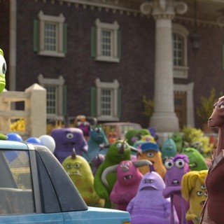 Monsters University - Mike Wazowski and Dean Hardscrabble from Walt Disney Pictures' Monsters University (2013)