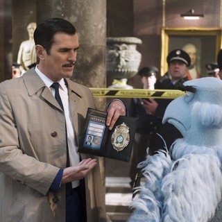 Muppets Most Wanted - Ty Burrell (Jean Pierre Napoleon) and Sam the Eagle in Walt Disney Pictures' Muppets Most Wanted (2014)