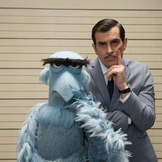 Muppets Most Wanted - Sam the Eagle and Ty Burrell (Jean Pierre Napoleon) in Walt Disney Pictures' Muppets Most Wanted (2014)