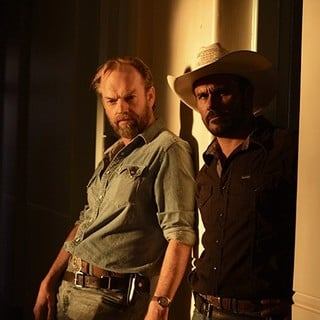 Hugo Weaving and Aaron Pedersen (stars as Jay Swan) in Well Go USA's Mystery Road (2014)