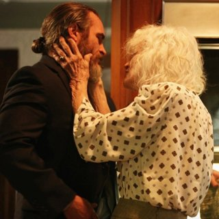 Joaquin Phoenix stars as Joe and Judith Roberts stars as Joe's Mother in Amazon Studios' You Were Never Really Here (2018)